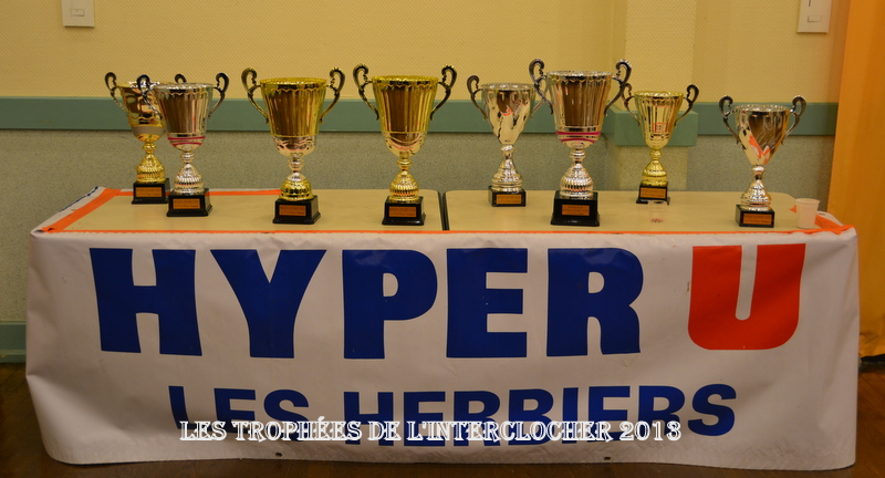 LES TROPHEES DE L'INTERCLOCHER DU 30/11/2013