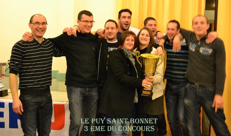 LE PUY SAINT BONNET 3ème DU TOURNOI