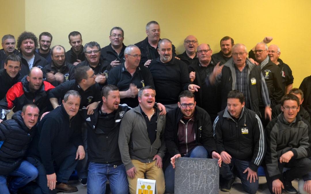Le p'tit palet verriais remporte le championnat régional laiton 2017/2018.