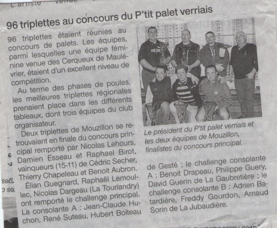 96 triplettes au concours du pti palet verrais 06-03-2012