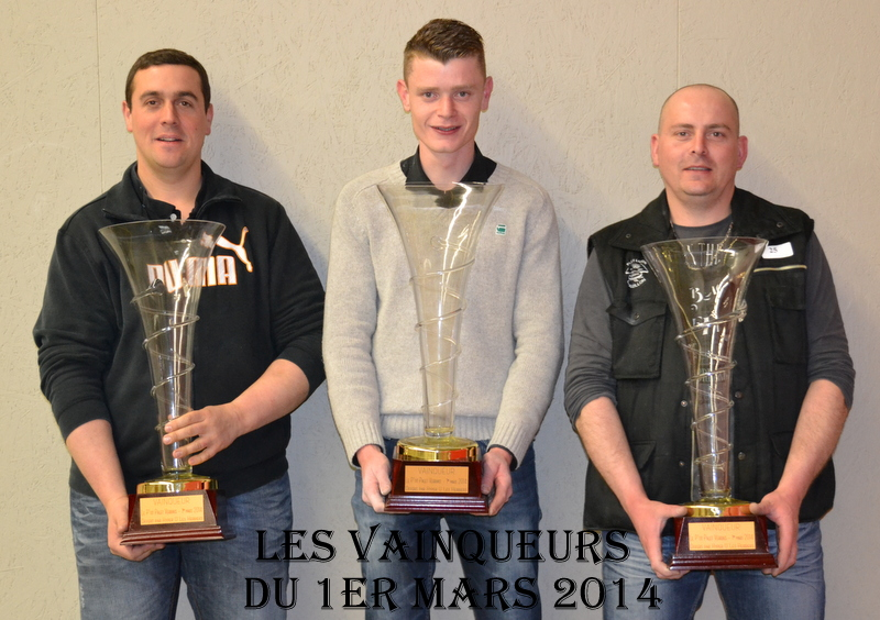 LA VERRIE le 01/03/2014 : les Vainqueurs du concours