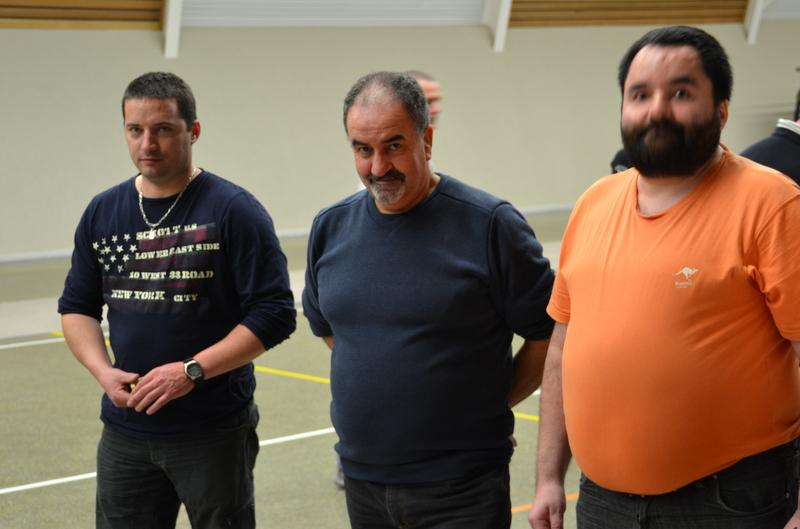 les futurs vainqueurs du challenge Principal Ludo, Daniel et JF