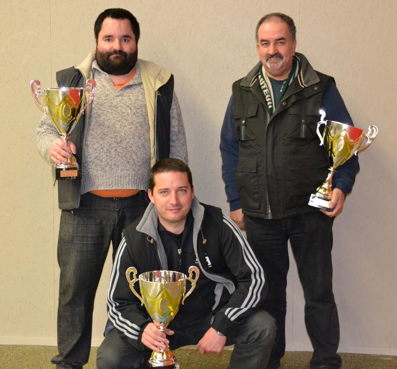 LA VERRIE le 01/03/2014 : la triplette vainqueur du challenge principal