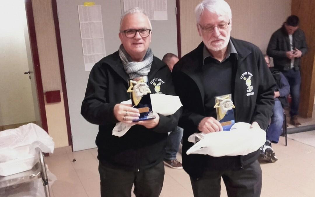 Résultats du concours de palets laiton à la Gaubretière !!